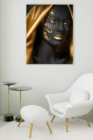 Gold and Glow Glass Painting
