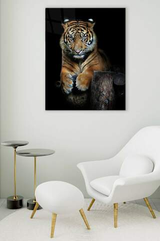 Wild Tiger Glass Painting