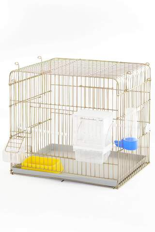 Production Cage 45*35*40 Grid Full Set Gold