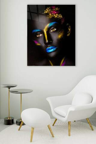 Yellow Eyes Glass Painting