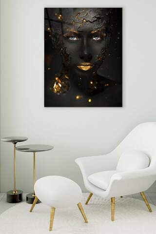 Dark and Gold Glass Painting