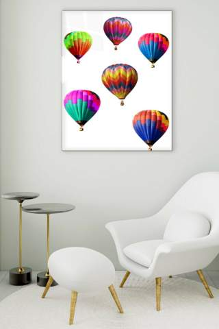 Balloons Glass Painting